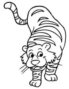 10.Gambar Mewarnai Harimau
