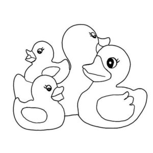 3.Gambar Mewarnai Bebek
