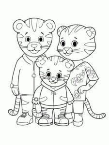 4.Gambar Mewarnai Harimau