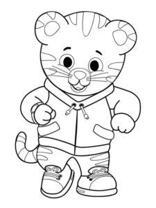 6.Gambar Mewarnai Harimau