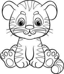 9.Gambar Mewarnai Harimau