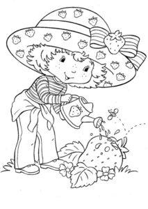 1.Gambar Mewarnai Buah Strawberry