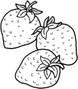 10.Gambar Mewarnai Buah Strawberry