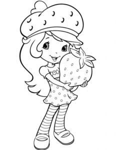 3.Gambar Mewarnai Buah Strawberry