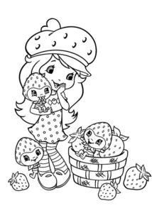 7.Gambar Mewarnai Buah Strawberry