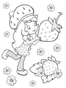 9.Gambar Mewarnai Buah Strawberry