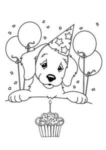1.Gambar Mewarnai Anjing