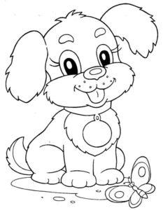 10.Gambar Mewarnai Anjing