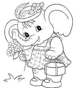 10.Gambar Mewarnai Gajah