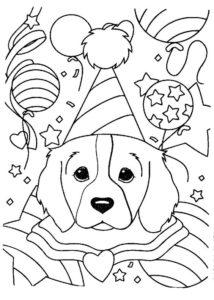11.Gambar Mewarnai Anjing