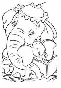 2.Gambar Mewarnai Gajah