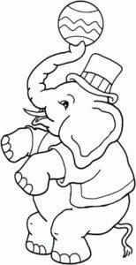4.Gambar Mewarnai Gajah