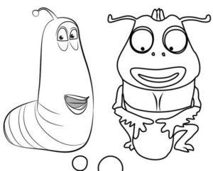 4.Gambar Mewarnai Larva