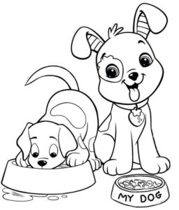 5.Gambar Mewarnai Anjing
