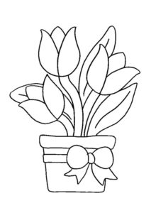 5.Gambar Mewarnai Bunga Tulip