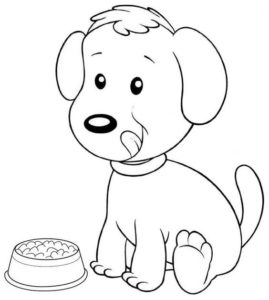 6.Gambar Mewarnai Anjing