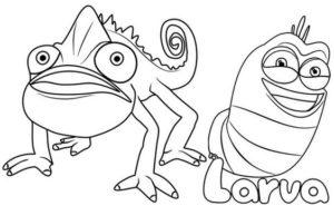 6.Gambar Mewarnai Larva