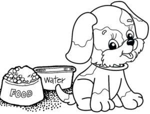 7.Gambar Mewarnai Anjing