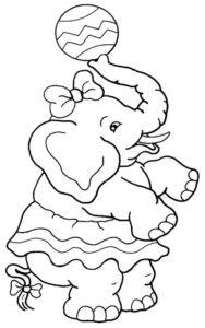 7.Gambar Mewarnai Gajah