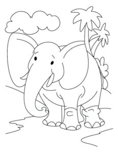 9.Gambar Mewarnai Gajah