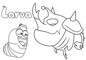 9.Gambar Mewarnai Larva
