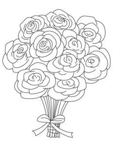 1. Gambar Mewarnai Bunga Mawar