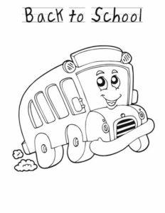 1.Gambar Mewarnai Bus Sekolah