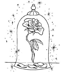 10.Gambar Mewarnai Bunga Mawar