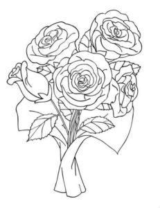 11.Gambar Mewarnai Bunga Mawar