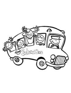 2.Gambar Mewarnai Bus Sekolah