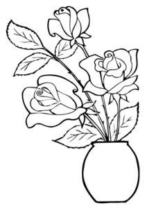 3.Gambar Mewarnai Bunga Mawar