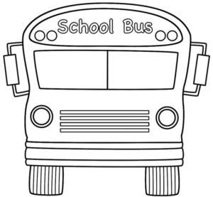 3.Gambar Mewarnai Bus Sekolah