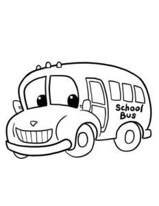 4.Gambar Mewarnai Bus Sekolah