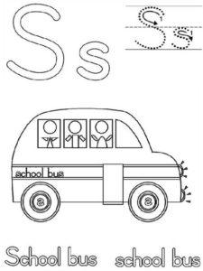 9.Gambar Mewarnai Bus Sekolah