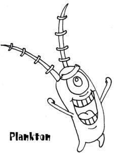 9.Gambar Mewarnai SpongeBob Squarepants