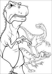 1.Gambar Mewarnai Dinosaurus