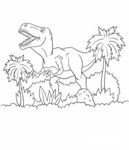 11.Gambar Mewarnai Dinosaurus