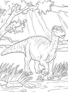 2.Gambar Mewarnai Dinosaurus