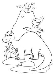 4.Gambar Mewarnai Dinosaurus