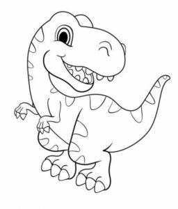 5.Gambar Mewarnai Dinosaurus