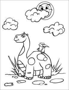 6.Gambar Mewarnai Dinosaurus