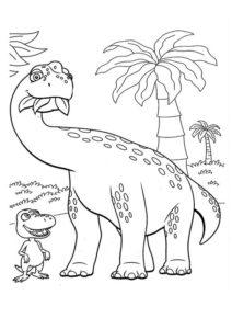 8.Gambar Mewarnai Dinosaurus