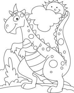 9.Gambar Mewarnai Dinosaurus