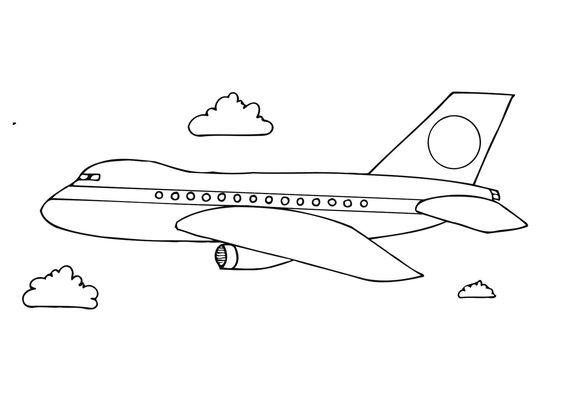 10.Gambar Mewarnai Pesawat Terbang