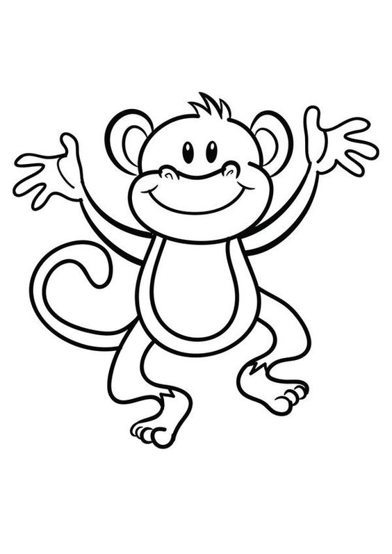 2.Gambar Mewarnai Monyet