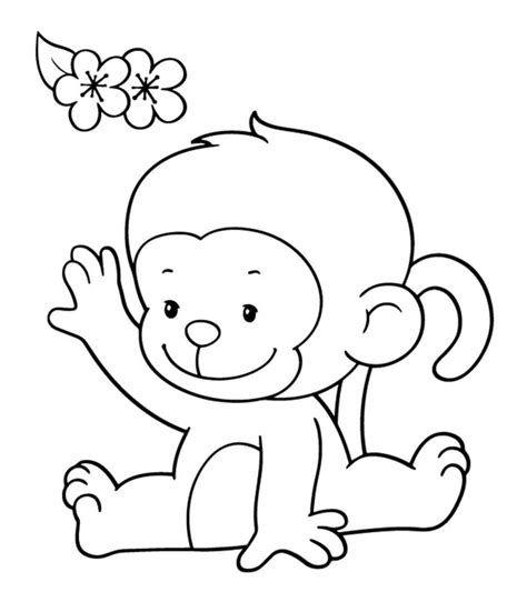 3.Gambar Mewarnai Monyet