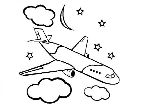 5.Gambar Mewarnai Pesawat Terbang