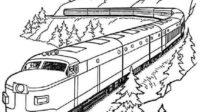 6.Gambar Mewarnai Kereta Api