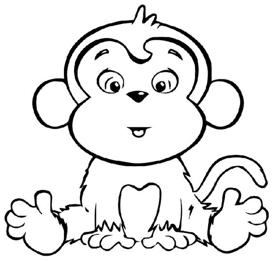 7.Gambar Mewarnai Monyet