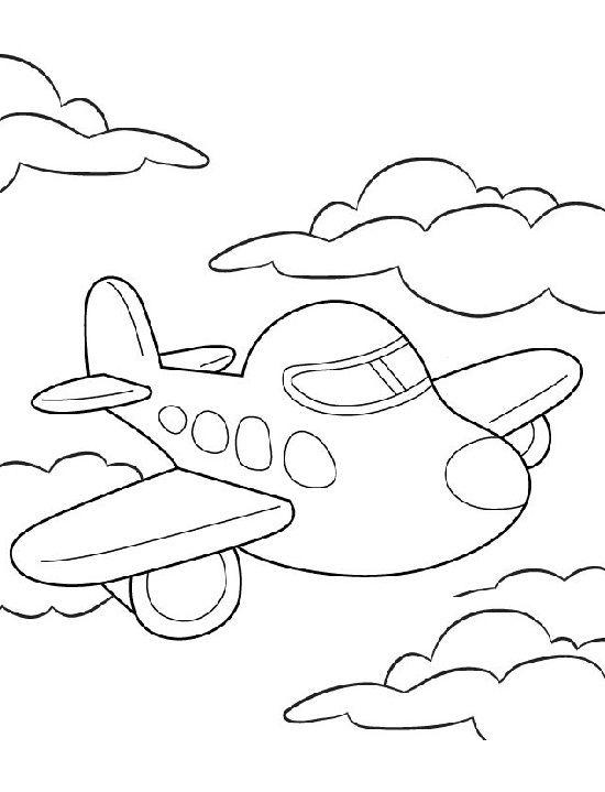 7.Gambar Mewarnai Pesawat Terbang